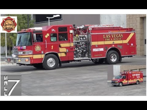 Las Vegas Fire Rescue - Rescue 201 & Engine 1 Responding