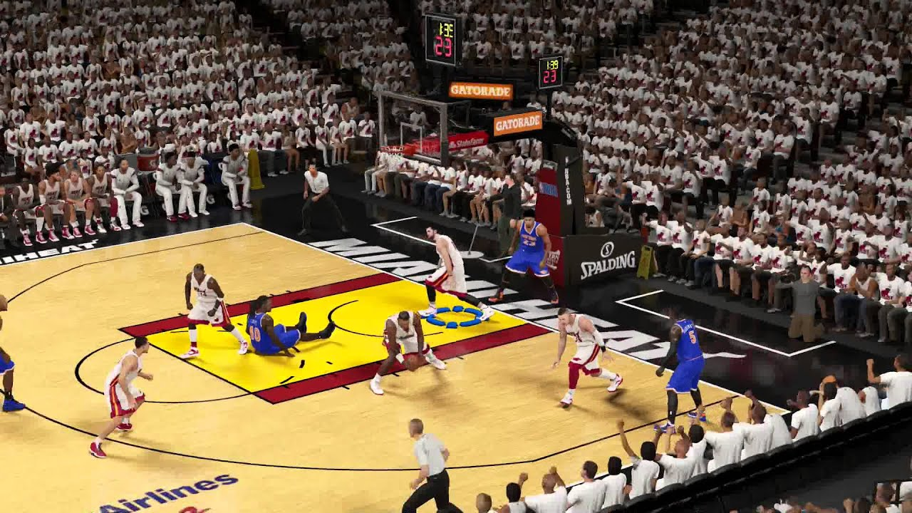 NBA 2k15: CPU Ignores The Basic Rules of Basketball - YouTube