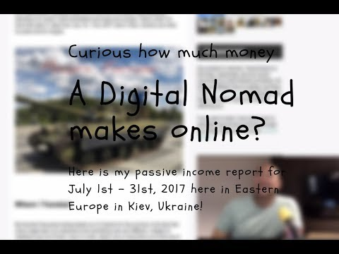 Passive Income Report: July 2017 as a Digital Nomad