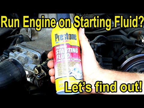 Will Running an Engine on 100% Starting Fluid Cause Damage?  Let's find out!