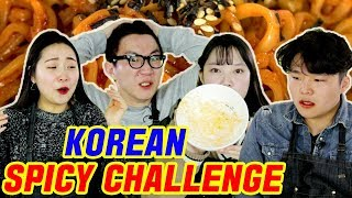 Koreans Try Nuclear Spicy Noodle Challenge [Korean Bros]