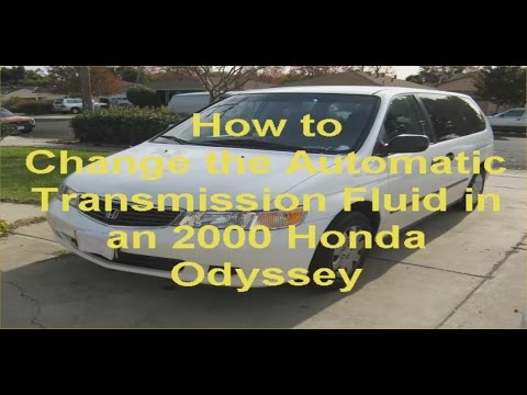 How to Change the Automatic Transmisstion Fluid in a 2000 Honda Odyssey