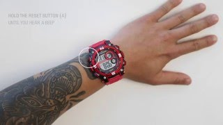 How to set the time on your Armitron Pro-Sport digital watch