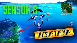 Fortnite Season 8 Glitch! How to Get to Spawn Island!! Outside Barrier!