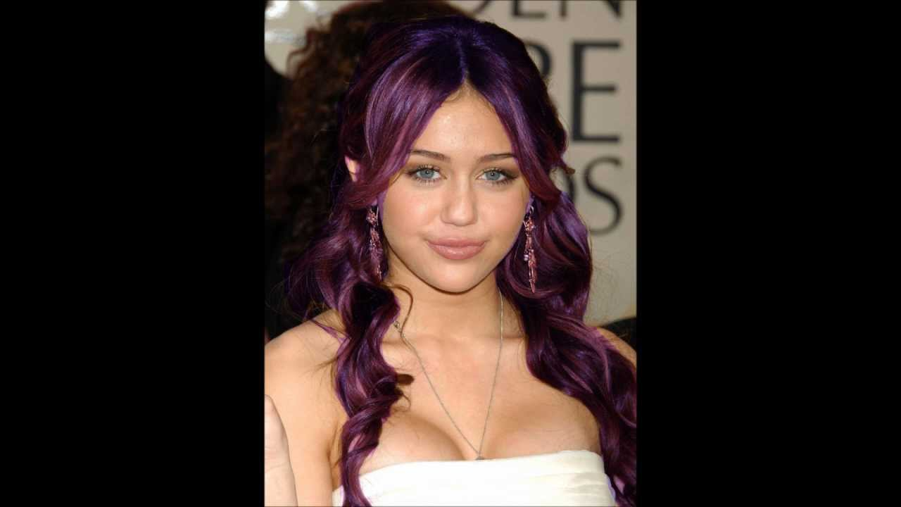 Who Looks Best In Purple Hair Selena Demi Miley YouTube