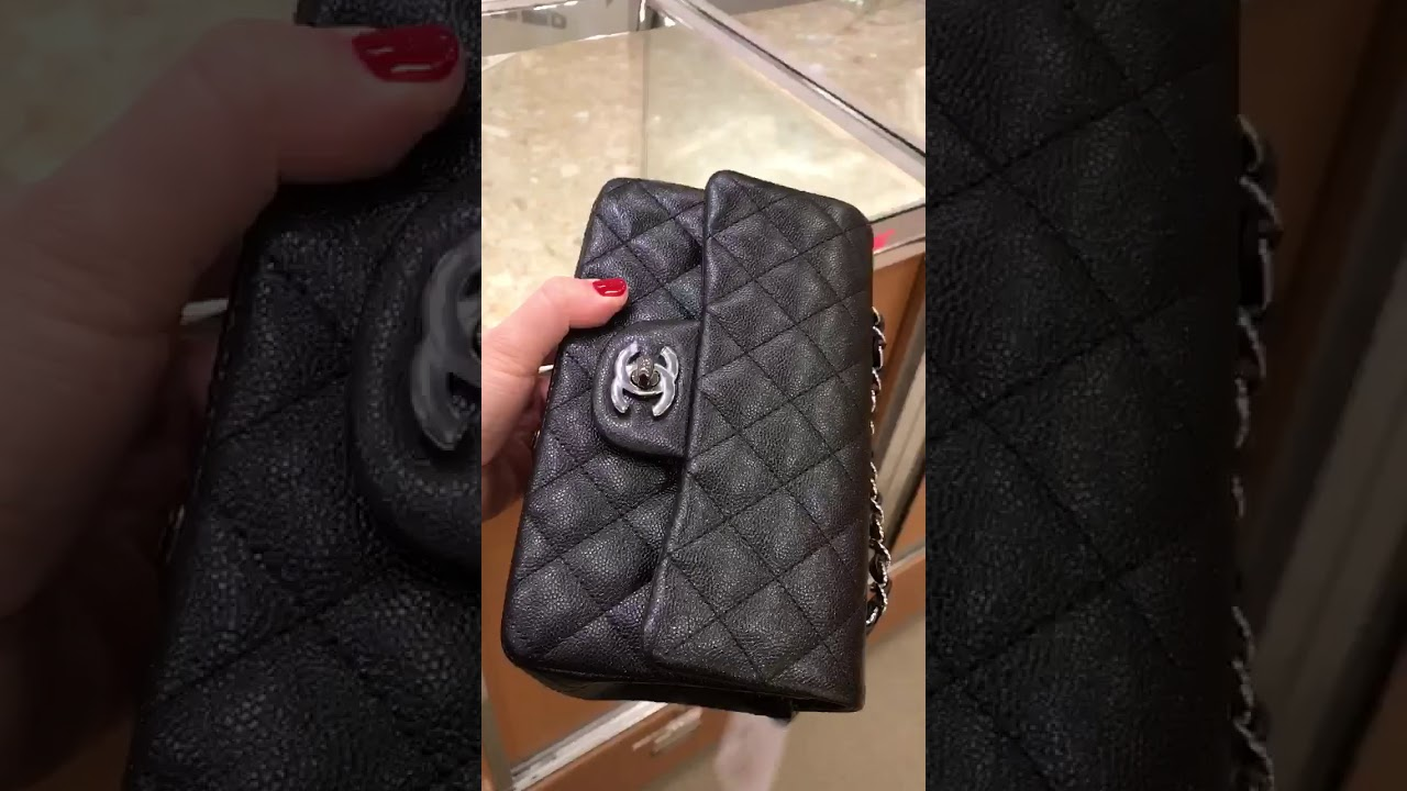 6e68977dbeba Chanel 18C iridescent caviar mini - YouTube