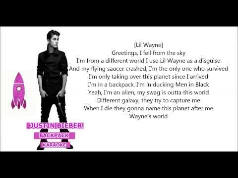 Justin Bieber - Backpack karaoke (with Lyrics)