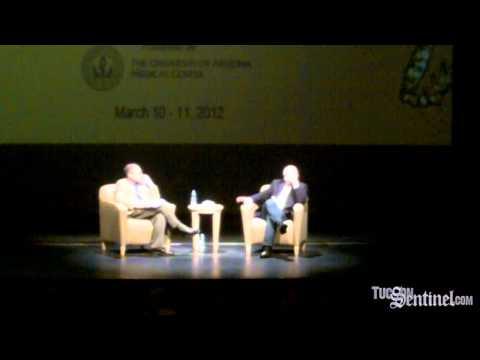 Mark Kelly speaks in Tucson
