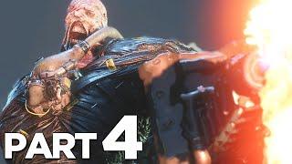 FIRST NEMESIS BOSS FIGHT in RESIDENT EVIL 3 REMAKE Walkthrough Gameplay Part 4 (RE3 NEMESIS)