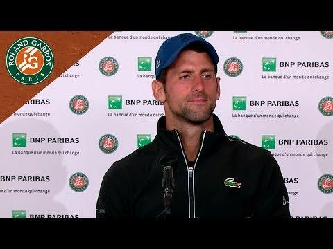Novak Djokovic - Press Conference after Round 3 I Roland-Garros 2018