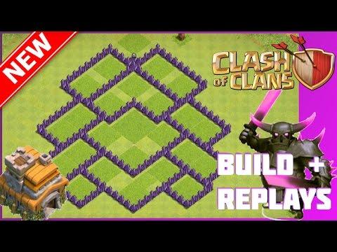 New BEST Th7 War/Trophy Base [Build+Replays] | The Siege | Anti-Giant/Heal/Wiz & Anti-Drag