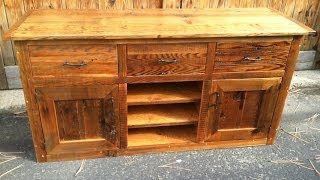 Rustic Reclaim Lumber Entertainment Console