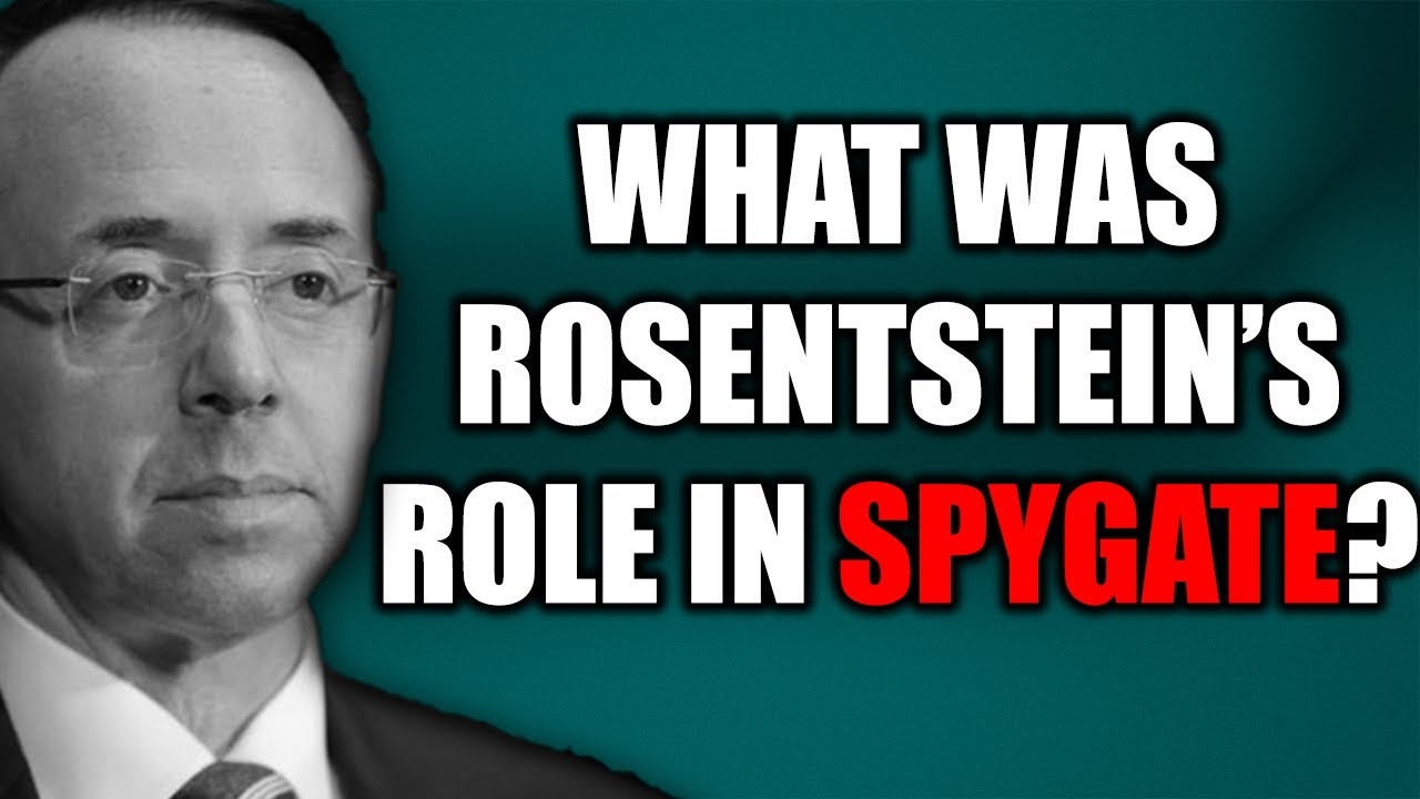 Judicial Watch Will Rod Rosenstein Ever Be Questioned About His Role in #SpyGate Targeting of Trump?