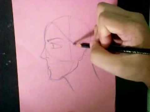 Line Drawing Of Child S Face : How to draw woman s face side view youtube