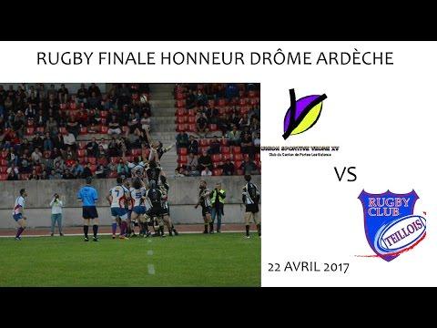 Rugby Finale Honneur US VEORE XV vs RC LE TEIL 22 04 2017