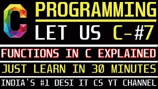 Functions In C | C Programming Tutorial | Learn C programming | C language Information Assistant