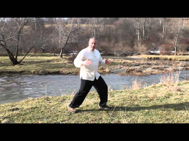 Tai chi changing directions; turning around