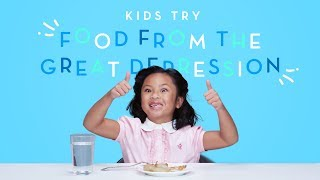 Kids Try Food from the Great Depression | Kids Try | HiHo Kids