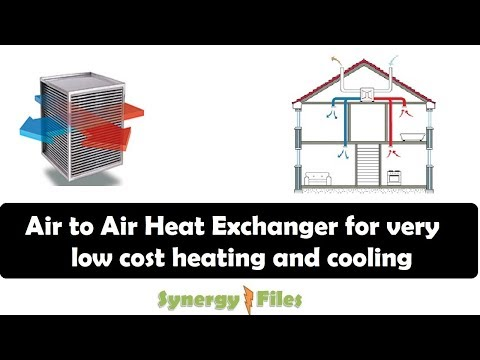 Air to Air Heat Exchanger For Substantially Reducing Energy Bills
