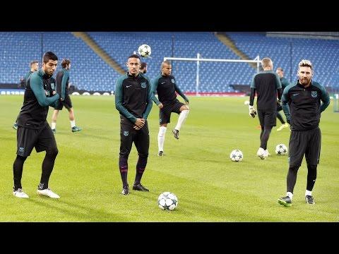 Entrenamiento del FC Barcelona previo al Manchester City - FC Barcelona