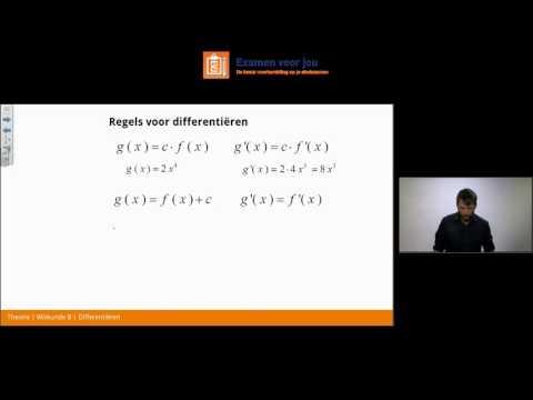 Differentiëren   Examentraining Wiskunde B HAVO