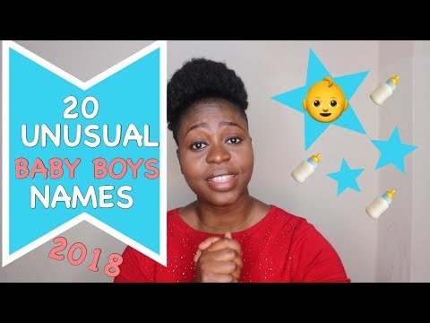 20 UNUSUAL BABY BOYS NAMES 2018 |vlogsbymagg
