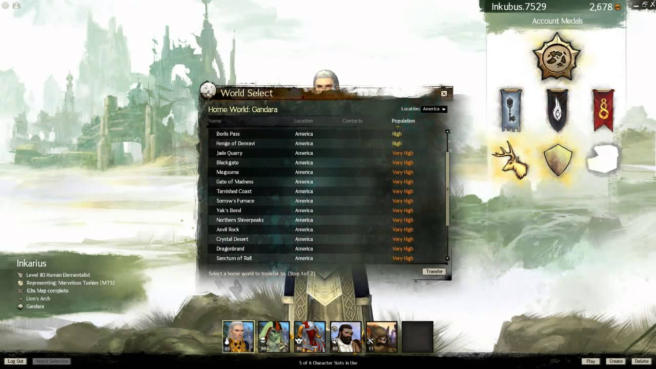 Guild Wars 2 - population 30-12-2012 - just one month later