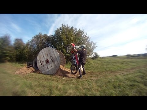 Testing our Homemade EnduroCross Track - CRF 250