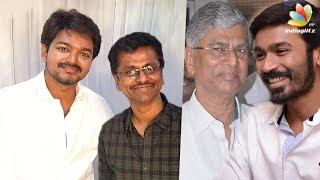 Who is the producer for Vijay 62 with A.R. Murugadoss - Dhanush or SAC?