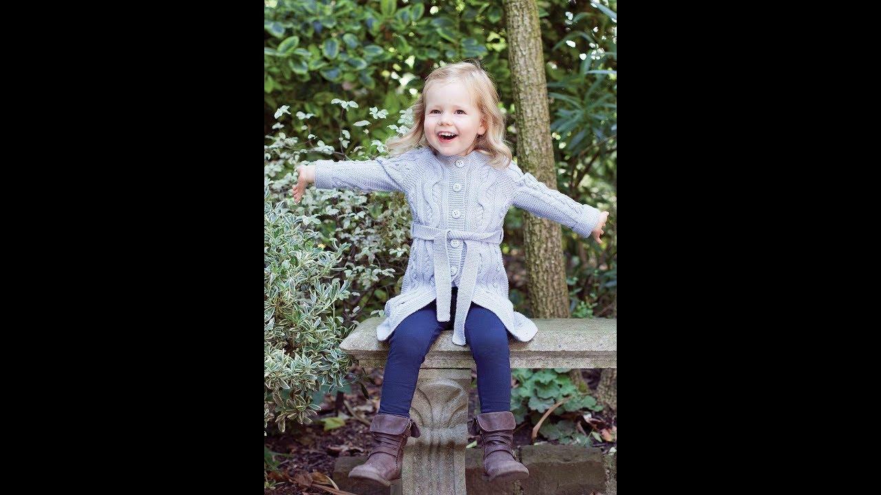 Вязание спицами Кардиган на девочку с 3-6 лет. - YouTube
