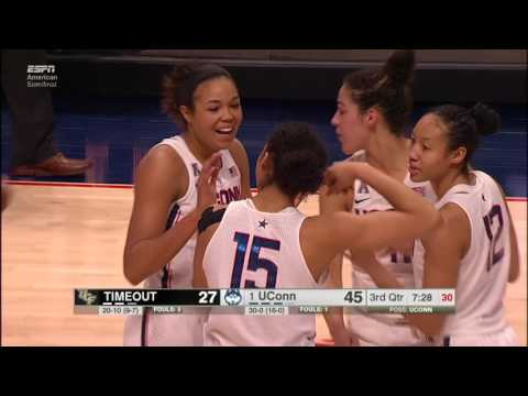 UConn Women's Basketball vs. UCF Highlights (AAC)