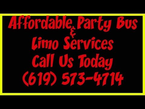 Party Bus in San Diego CA | (619) 573-4714