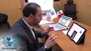 Marko Cortés habla por videollamada con Juan Guaidó