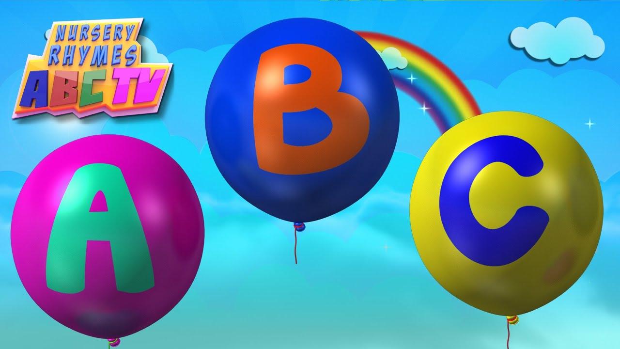 Alphabets Song Balloons Abc Youtube