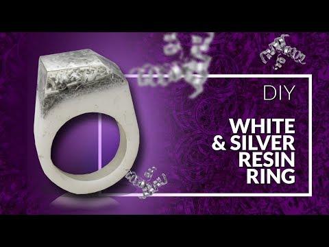 Resin Ring DIY White resin & silver - simple tutorial