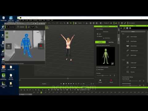 iClone Xbox One Kinect Plugin Tutorial   Motion Capture for DAZ Genesis 2 Female