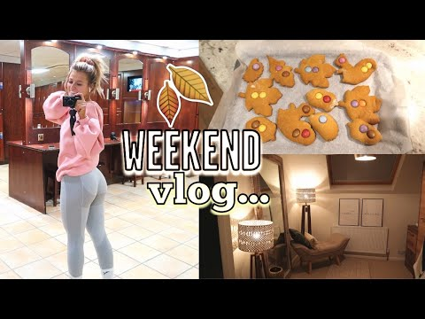 WEEKEND VLOG: BEDROOM TOUR, WORKING OUT & BAKING