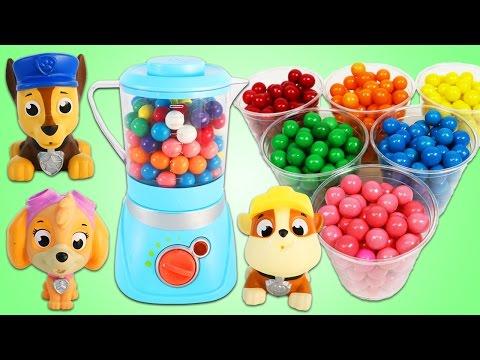 Paw Patrol Blend Gumballs In Toy Blender!