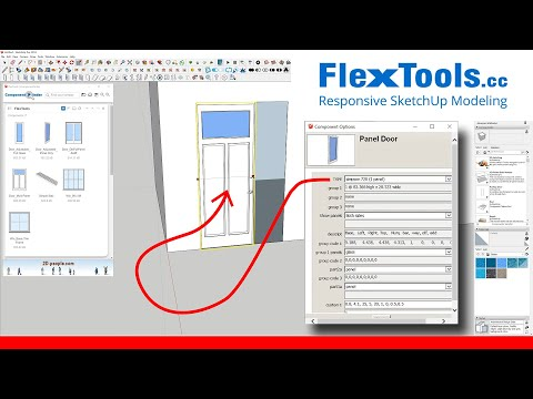 How To Create Adjustable Dynamic Doors With Flextools In Sketchup