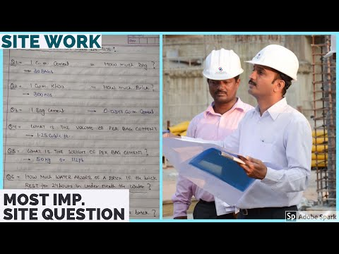 Basic knowledge of site engineer: Basic Question for a civil site Engineer
