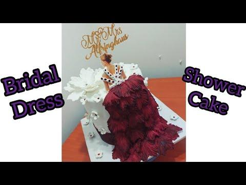 bridal-shower-dress-cake-|-bridal-shower-cake-|-bachelorette-cake-|bridal-shower-torte-|