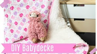 Babydecke nähen - last minute Geschenkidee (Anfängergeeignet)