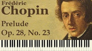 ♪ Frédéric Chopin: Prelude in F major, Op. 28, No. 23 - Piano Tutorial