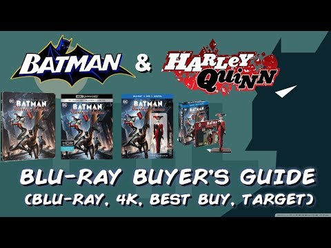 BATMAN AND HARLEY QUINN - BLURAY UNBOXING (BLURAY, 4K UHD, TARGET, BEST BUY) BLURAY BUYERS GUIDE streaming vf