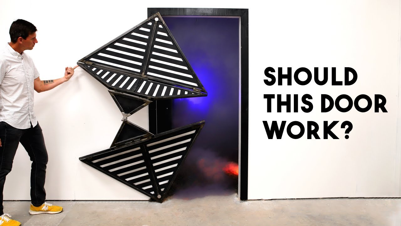 Impossible Origami Folding Door
