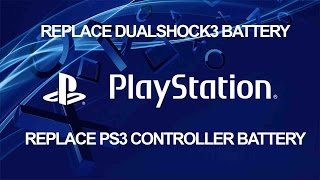 How to Replace Controller Battery - Sony PS3 DualShock 3 - Playstation Tutorial