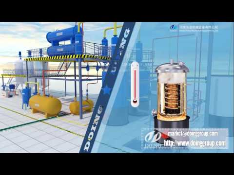 Make diesel fuel from used motor oil 3d  demo video
