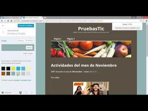 Cambio de color de fondo en WordPress - YouTube