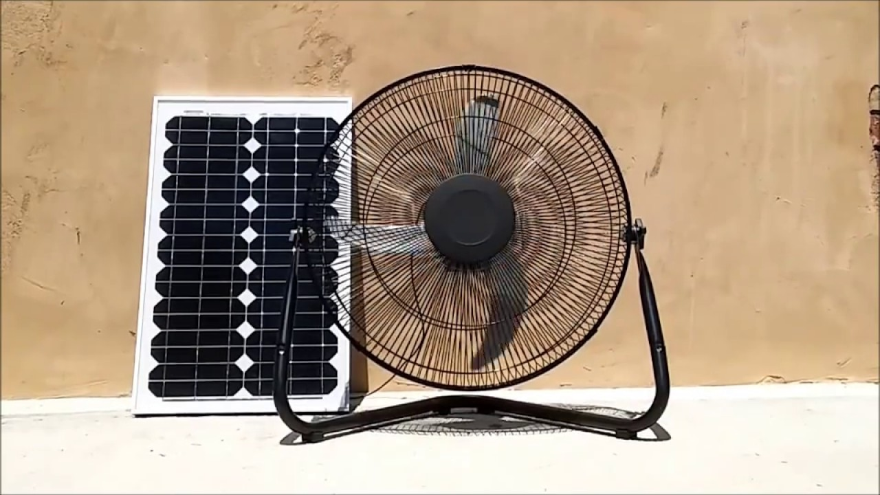 Large 12 Volt Fan : The large volt solar fan youtube