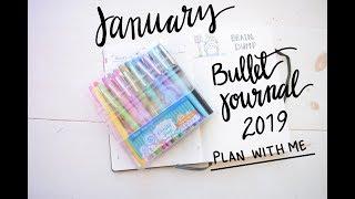 January Bullet Journal 2019 Set Up